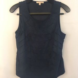 Skies Are Blue Sleeveless Top S Faux Suede